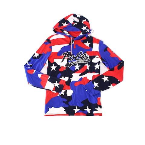 Polo Ralph Lauren Mens Sweatshirt Large Camo-Print Hooded