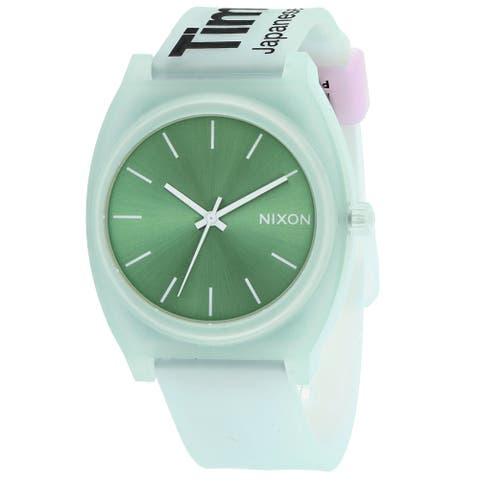 Nixon Men's Time Teller P Green Dial Watch - A119-3171 - One Size