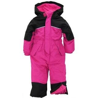 iXtreme Little Girls' Snowy Hill Havyweight Waterproof 1-Piece Snowsuit