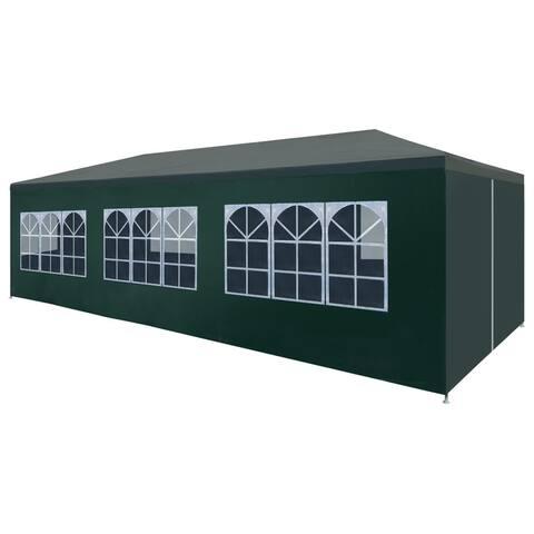 """vidaXL Party Tent 9'10""""x29'6"""" Green"""