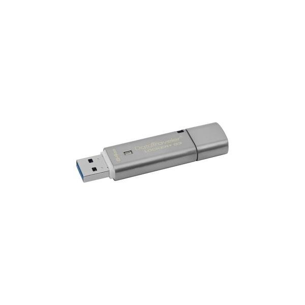 Kingston DTLPG3/64GB Kingston 64GB DataTraveler Locker+ G3 USB 3.0 Flash Drive - 64 GBUSB 3.0 - Silver - 1 Pack - Encryption