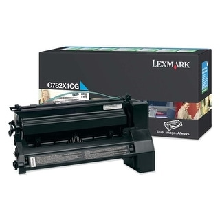 Lexmark C782X1CG Lexmark Extra High Yield Return Program Cyan Toner Cartridge - Cyan - Laser - 15000 Page - 1 Each