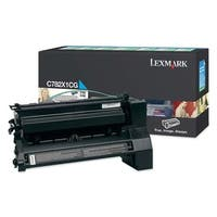 """Lexmark C782X1CG Lexmark Extra High Yield Return Program Cyan Toner Cartridge - Cyan - Laser - 15000 Page - 1 Each"""