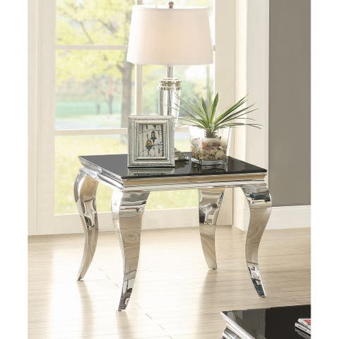 """Contemporary Black Side Table - 23.75"""" x 23.75"""" x 22.50"""""""