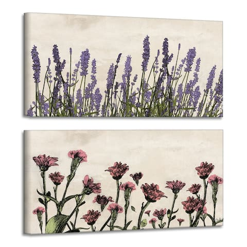 Olivia Rose 'Poetic Flora Set V' Canvas Wall Art Set