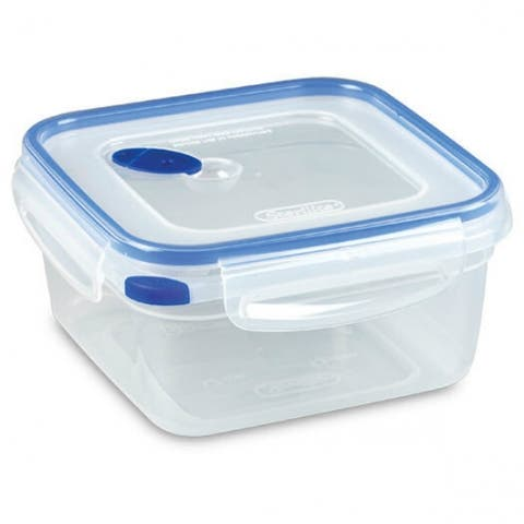 Sterilite 03324706 Ultra-Seal Square Food Storage Container, Blue, 5.7 Cup