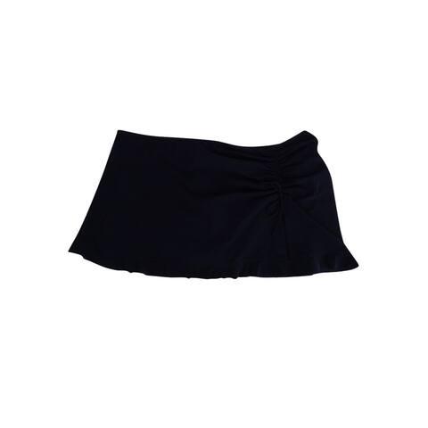 Profile by Gottex Women's Plus Size Tutti Frutti Slit Swim Skirt (18W, Black) - Black - 18W