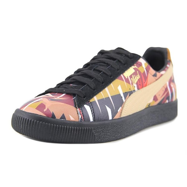 Puma Clyde Moon Jungle NATUREL Men Round Toe Leather Multi Color Sneakers