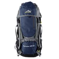 HWJIANFENG Authorized Outdoor Climbing Sport Bag Hiking Backpack Dark Blue 55L
