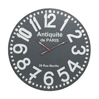 Sterling Industries 171-009 Antique Analog Paris Wall Clock - Grey