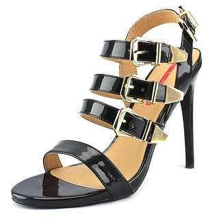 C Label Olive-17 Women Open Toe Synthetic Black Sandals