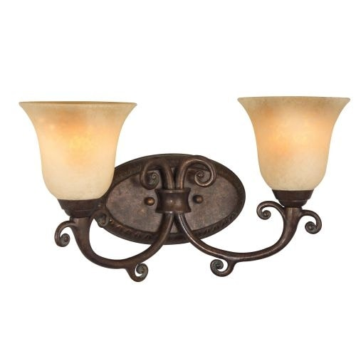 "Craftmade 10409 Aztec 17"" Wide 2 Light Bathroom Vanity Light"