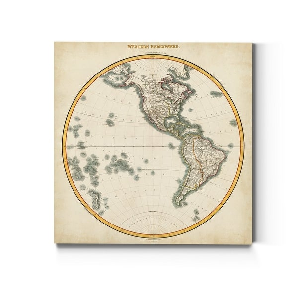1812 Western Hemisphere -Premium Gallery Wrapped Canvas. Opens flyout.