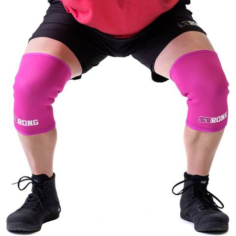 Sling Shot STrong Knee Sleeves by Mark Bell - Pink, 7mm thick neoprene supports