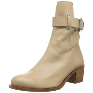 Plomo Womens Bernadette Ankle Boots Leather Buckle