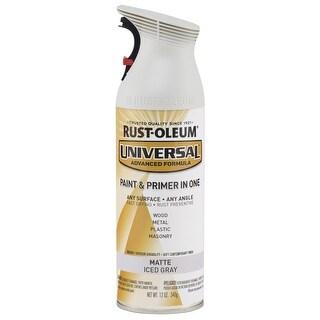 Universal Matte Aerosol Paint 12oz-Iced Gray