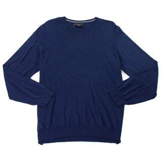 Club Room NEW Navy Stone Blue Mens Size Medium M Crewneck Silk Sweater