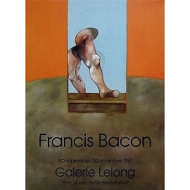 Untitled, 1987 Exhibition Poster, Francis Bacon