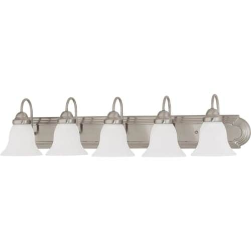"Nuvo Lighting 60/3282 Ballerina 5 Light 36"" Wide Vanity Light with Frosted White Glass Shades"