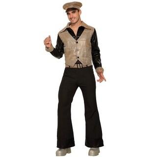 Forum Novelties Gold Disco King Adult Costume - Gold/Black - Standard