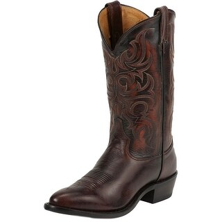 Tony Lama Western Boots Mens Americana Antique Regal Calf Peanut 7924