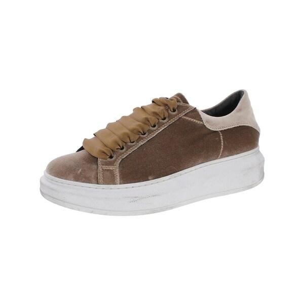 b229060973c Steven By Steve Madden Womens Glimmer Fashion Sneakers Velvet Platform - 8  medium (b