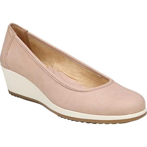a78639178c0 Shop Naturalizer Women s Betina Wedge Pump Vintage Mauve Leather ...