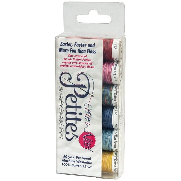 Sulky Sampler 12wt Cotton Petites 6/Pkg-Most Popular Blendables Assortment