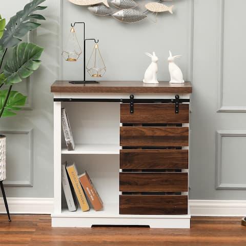 Pallet Sliding Door Wood Storage Cabinet