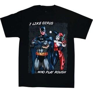 Batman I Like Girls That Play Rough Men's Black T-Shirt