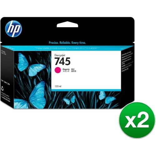 HP 745 130-ml DesignJet Magenta Ink Cartridge (F9J95A)(2-Pack)