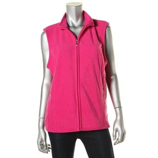 Karen Scott Womens Fleece Princess Seams Casual Vest - L