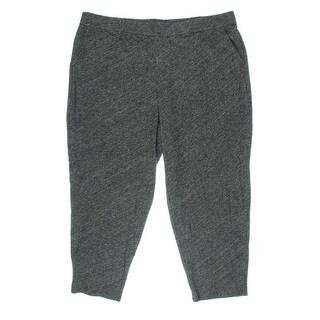 Eileen Fisher Womens Plus Heathered Drapey Lounge Pants - 3X