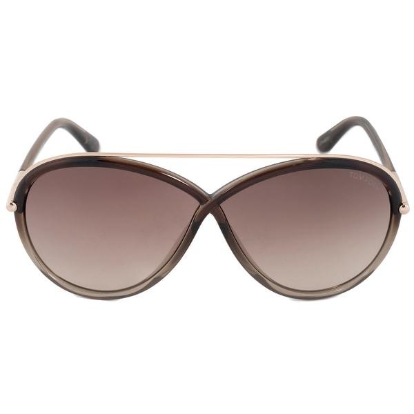 5e9c0d901e1 Shop Tom Ford Tamara Oval Sunglasses FT0454 38F 64