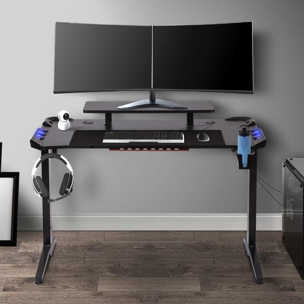 "48"" Computer Desk, Black (I-shape Leg). Opens flyout."
