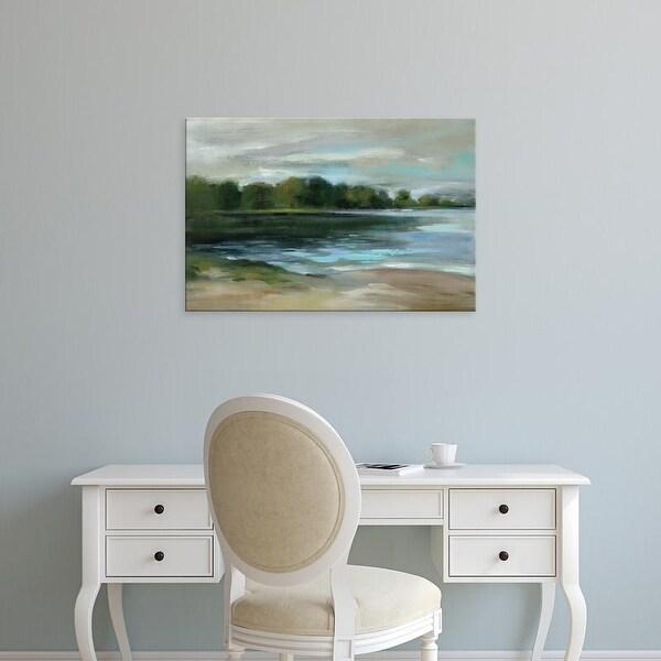Easy Art Prints Silvia Vassileva's 'Lake Afternoon Stillness' Premium Canvas Art