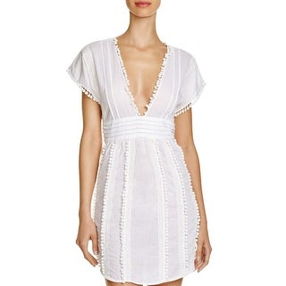 Sofia by Vix Womens Cotton Lace Dress Swim Cover-Up