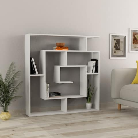 Briscoe Modern Bookcase 49'' x 51'' x 8.5'' / Shelving Unit / Bookshelf