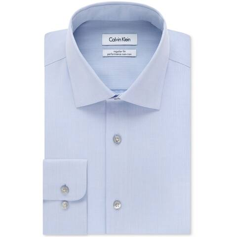 Calvin Klein Mens Performance Non Iron Button Up Dress Shirt