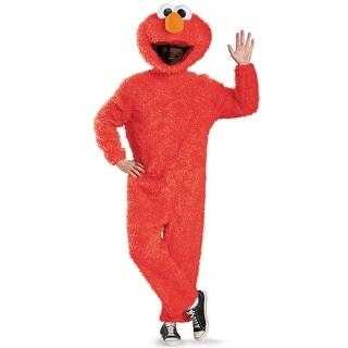Disguise Full Plush Elmo Prestige Adult Costume - Red