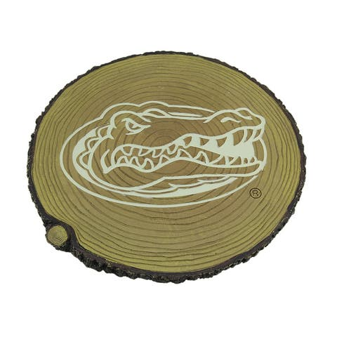 Florida Gators Glow In the Dark Tree Stump Stepping Stone - Tan - 0.75 X 12 X 12 inches