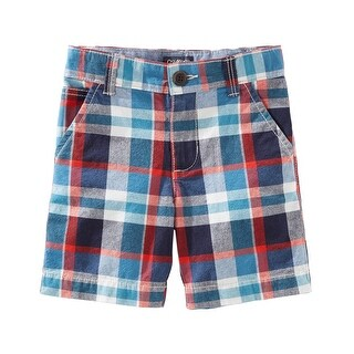 OshKosh B'gosh Big Boys' Plaid Flat-Front Shorts, 8 Kids