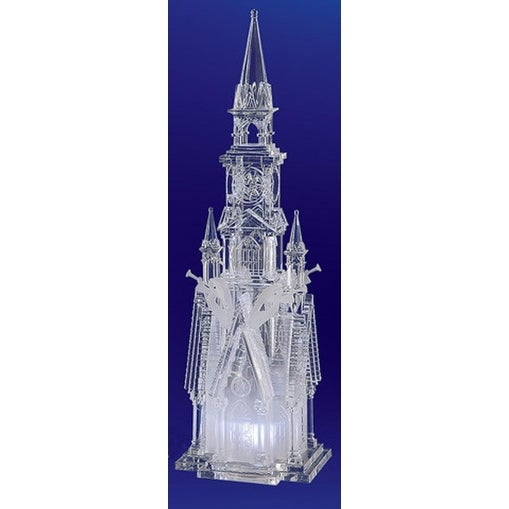 "Pack of 2 Icy Crystal Decorative Religious Four Angel Cathedral Figurines 17.5"" - CLEAR"