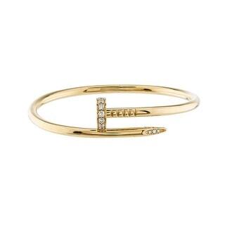 Fashionvare Womens Stainless-Steel Nail It Bracelet Gold