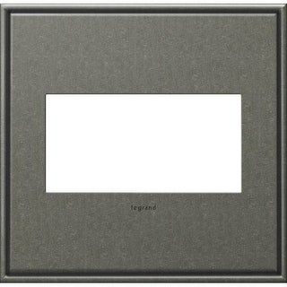 Legrand AWC2GBP4 adorne 2 Gang Metal Wall Plate - 6.56 Inches Wide