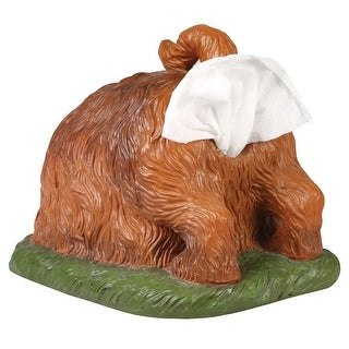 Digging Dog Butt Tissue Holder - Funny Square Shaped Tissue Box Cover - 11.25 in. x 9.25 in. x 9.25 in.