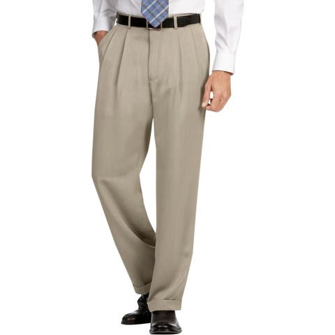 Perry Ellis Mens Dress Pants Cuffed Double Pleat