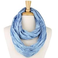 Solid Color Infinity Scarf-Light Blue