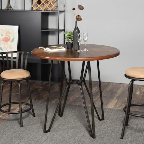 FurnitureR Industrial Modern Bar Table Brown