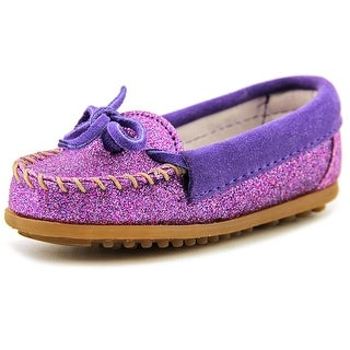 Minnetonka Glitter Moccasin Round Toe Synthetic Loafer